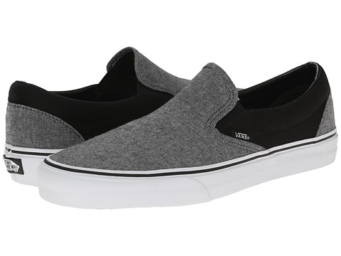 Vans - Classic Slip-On ((C&C) Black/Pewter) Skate Shoes