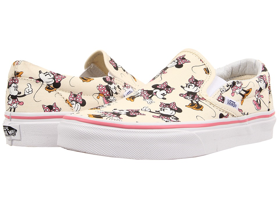 Vans - Disney Classic Slip-On ((Disney) Minnie Mouse/Classic White) Skate Shoes