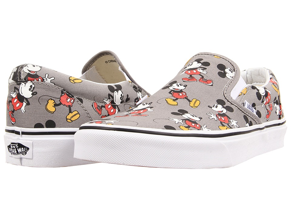 Vans - Disney Classic Slip-On ((Disney) Mickey Mouse/Frost Gray) Skate Shoes