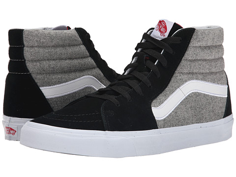 Vans - SK8-Hi ((Wool Sport) Black/Gray) Skate Shoes