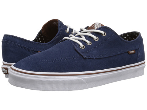 Vans - Brigata ((Suede) Insignia Blue/Plus) Skate Shoes