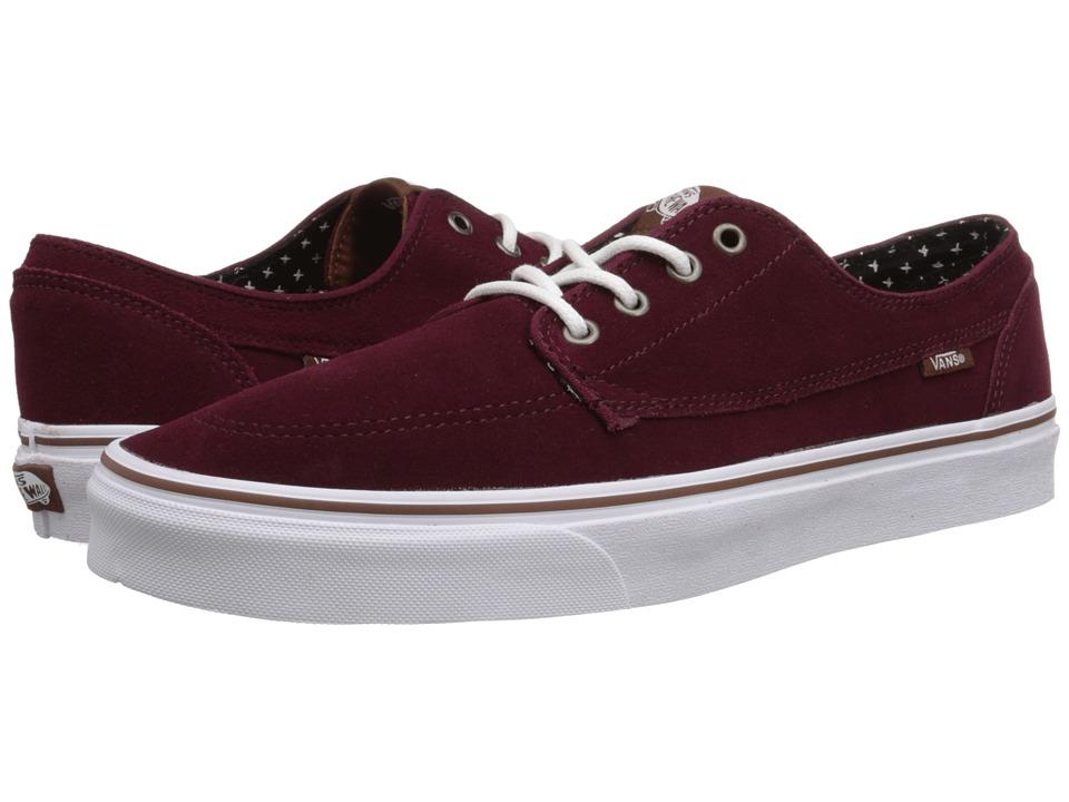 Vans - Brigata ((Suede) Windsor Wine/Plus) Skate Shoes