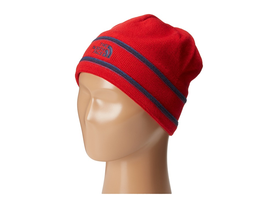 The North Face Kids - TNF Logo Beanie (Big Kids) (TNF Red/Cosmic Blue) Beanies