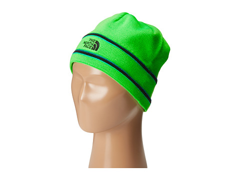 The North Face Kids - TNF Logo Beanie (Big Kids) (Krypton Green/TNF Black) Beanies