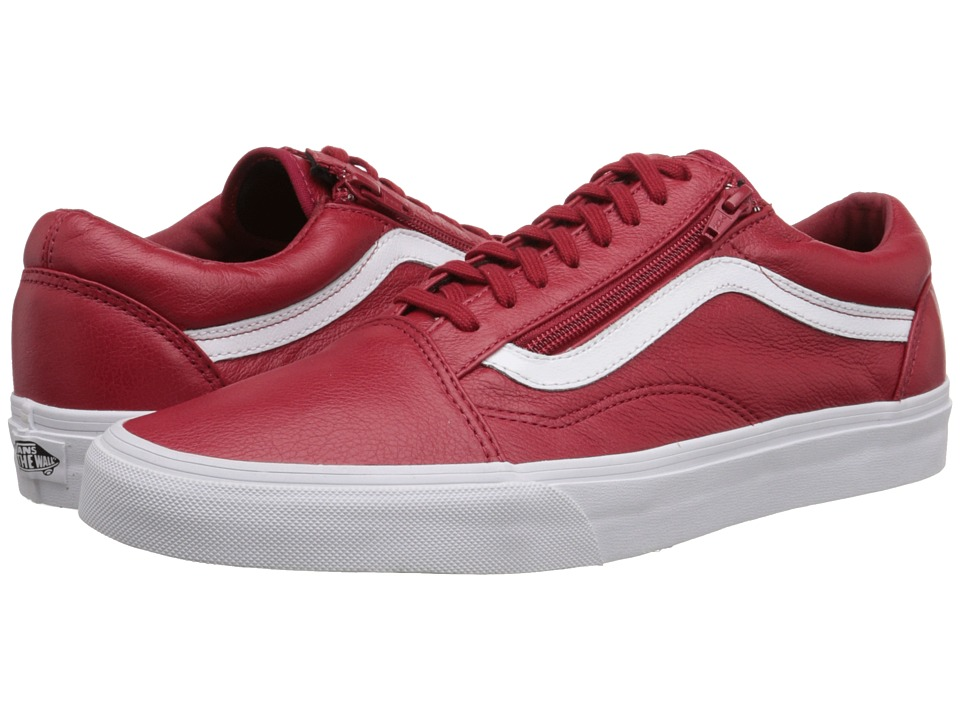 Vans - Old Skool Zip ((Premium Leather) Chili Pepper) Skate Shoes