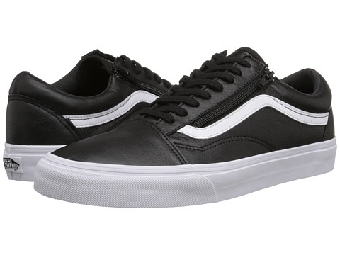 Vans - Old Skool Zip ((Premium Leather) Black) Skate Shoes