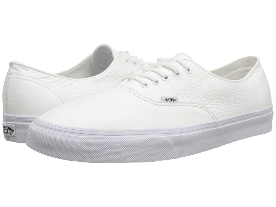 Vans - Scotchgard Authentic Decon ((Premium Leather) True White) Skate Shoes