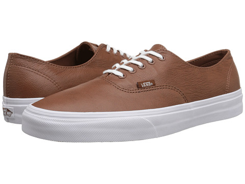 Vans - Scotchgard Authentic Decon ((Premium Leather) Tortoise Shell) Skate Shoes