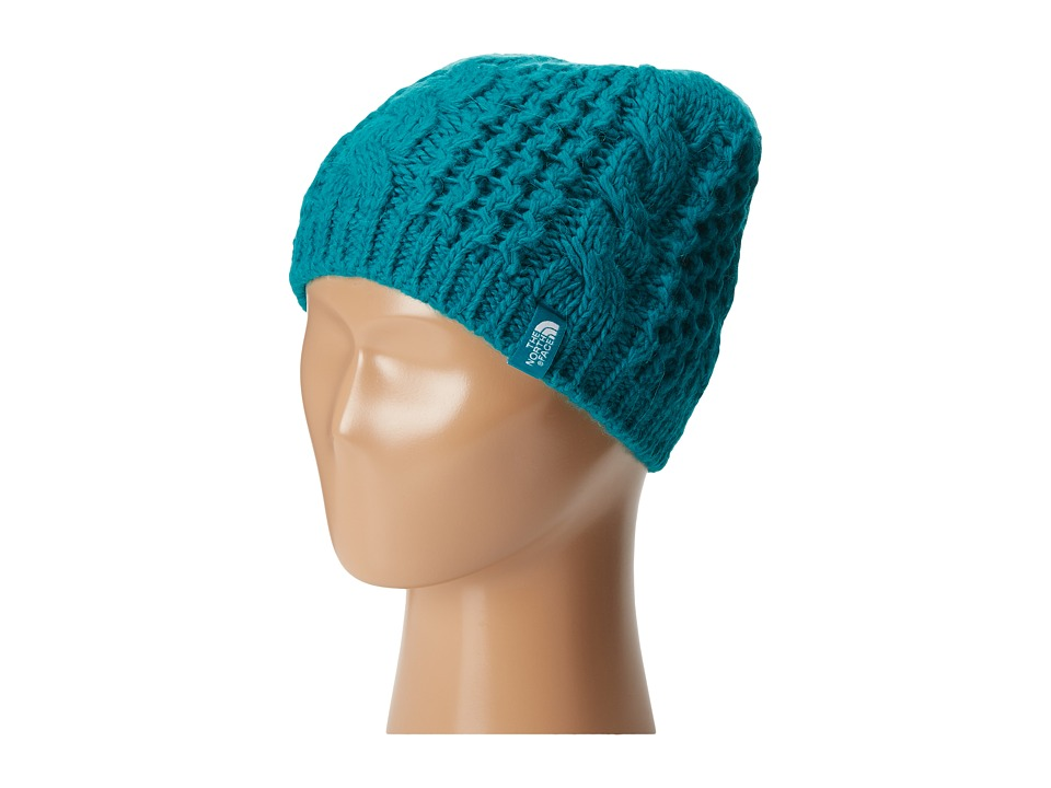 The North Face Kids - Cable Minna Beanie (Big Kids) (Kokomo Green) Beanies