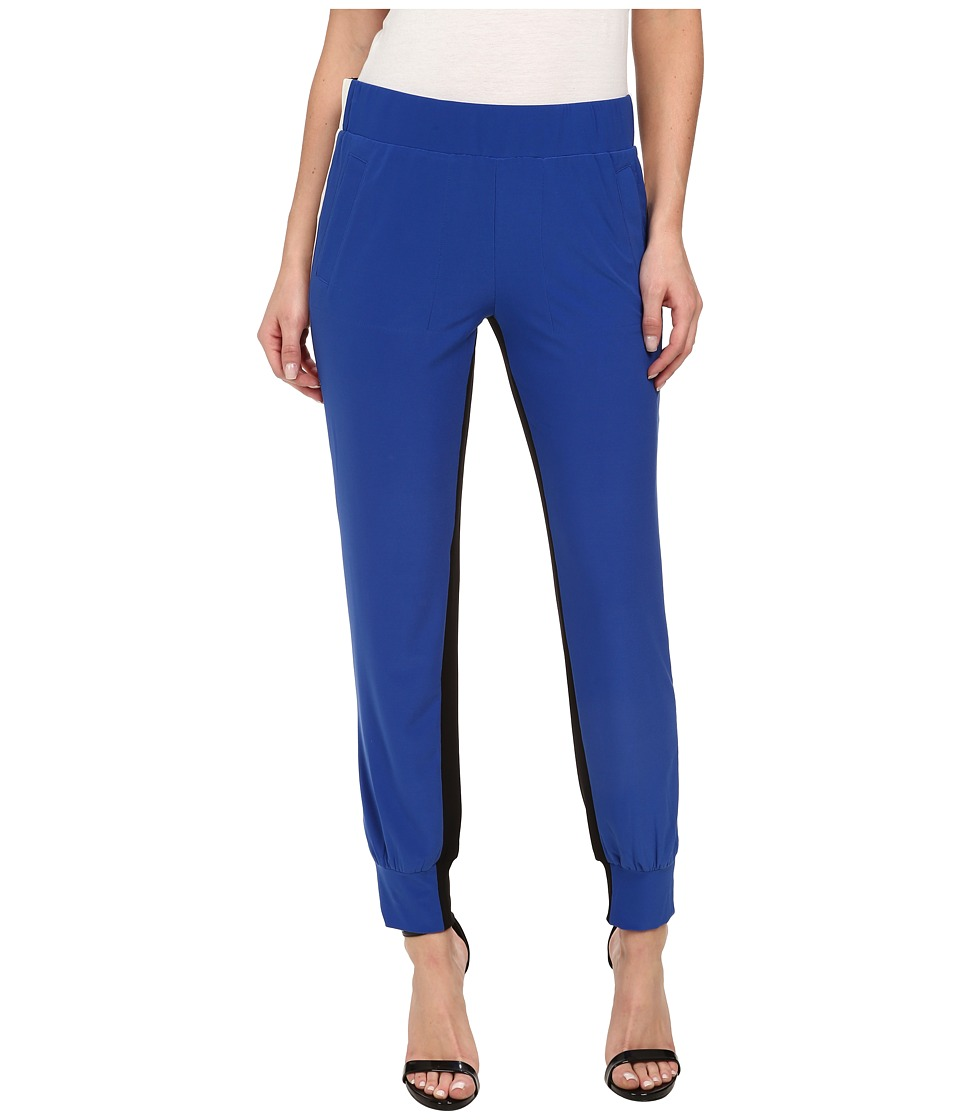 KAMALIKULTURE by Norma Kamali - Spliced Side Stripe Jog Pants (True Blue/Off White/Black) Women's Casual Pants
