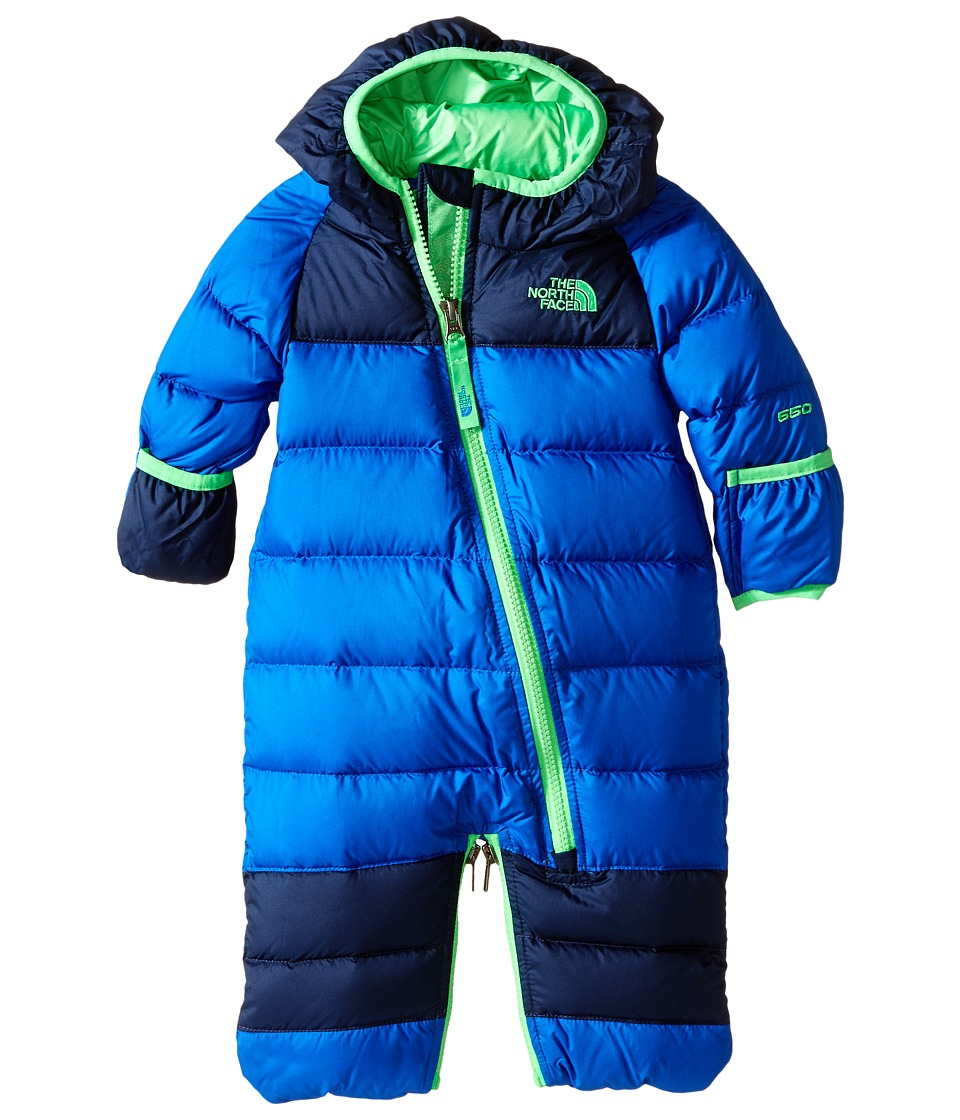 The North Face Kids - Lil' Snuggler Down Bunting (Infant) (Monster Blue (Prior Season)) Kid's Jumpsuit & Rompers One Piece