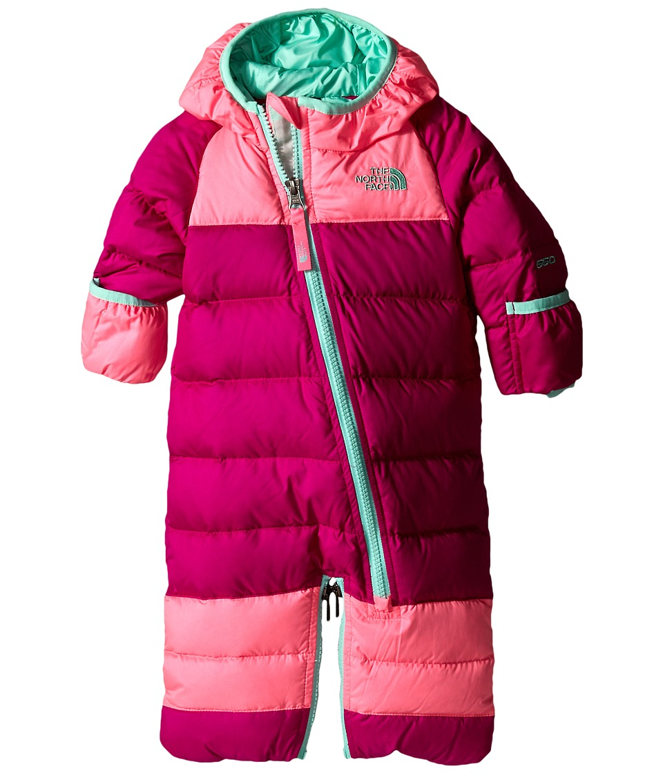 The North Face Kids - Lil' Snuggler Down Bunting (Infant) (Luminous Pink) Kid's Jumpsuit & Rompers One Piece