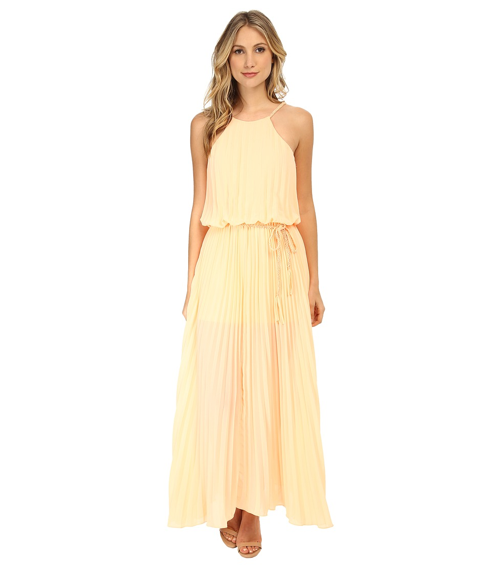 Gabriella Rocha - Courtney Pleated Maxi Dress with Belt (Peach) Women's Dress