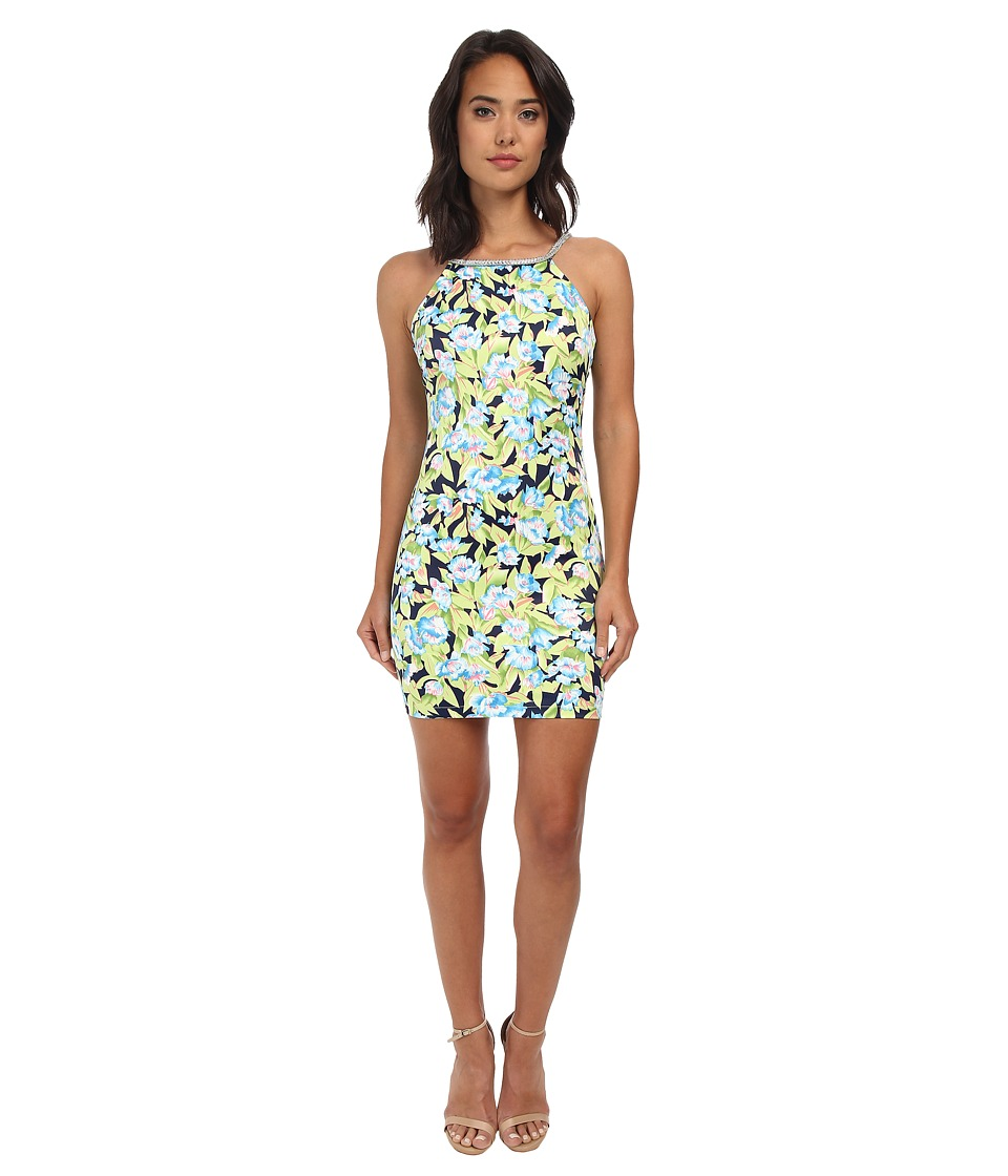 Gabriella Rocha - Floral Tropics Bodycon Dress (Blue/Green Multi) Women's Dress
