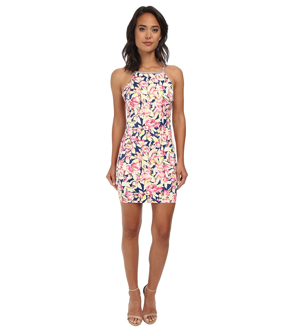 Gabriella Rocha - Floral Tropics Bodycon Dress (Pink/Taupe) Women