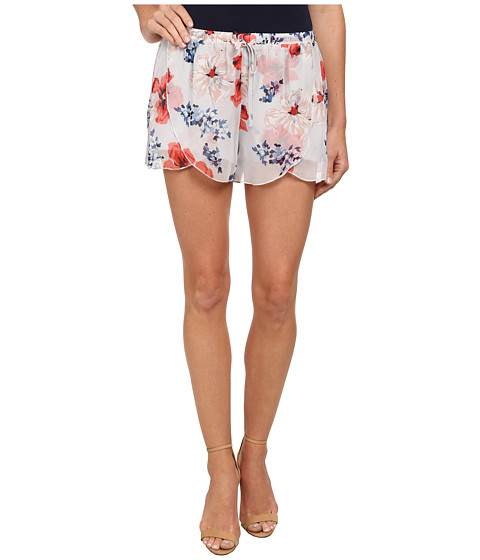 Jack by BB Dakota - Ives Beach Blossom Chiffon Shorts (Multi) Women