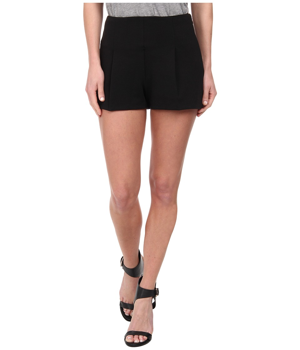 Free People - Solid Ponte Hi Rise Shorts (Black) Women's Shorts