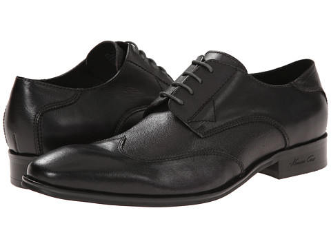 Kenneth Cole New York - Oil The Wheels (Black) Men's Lace Up Wing Tip Shoes