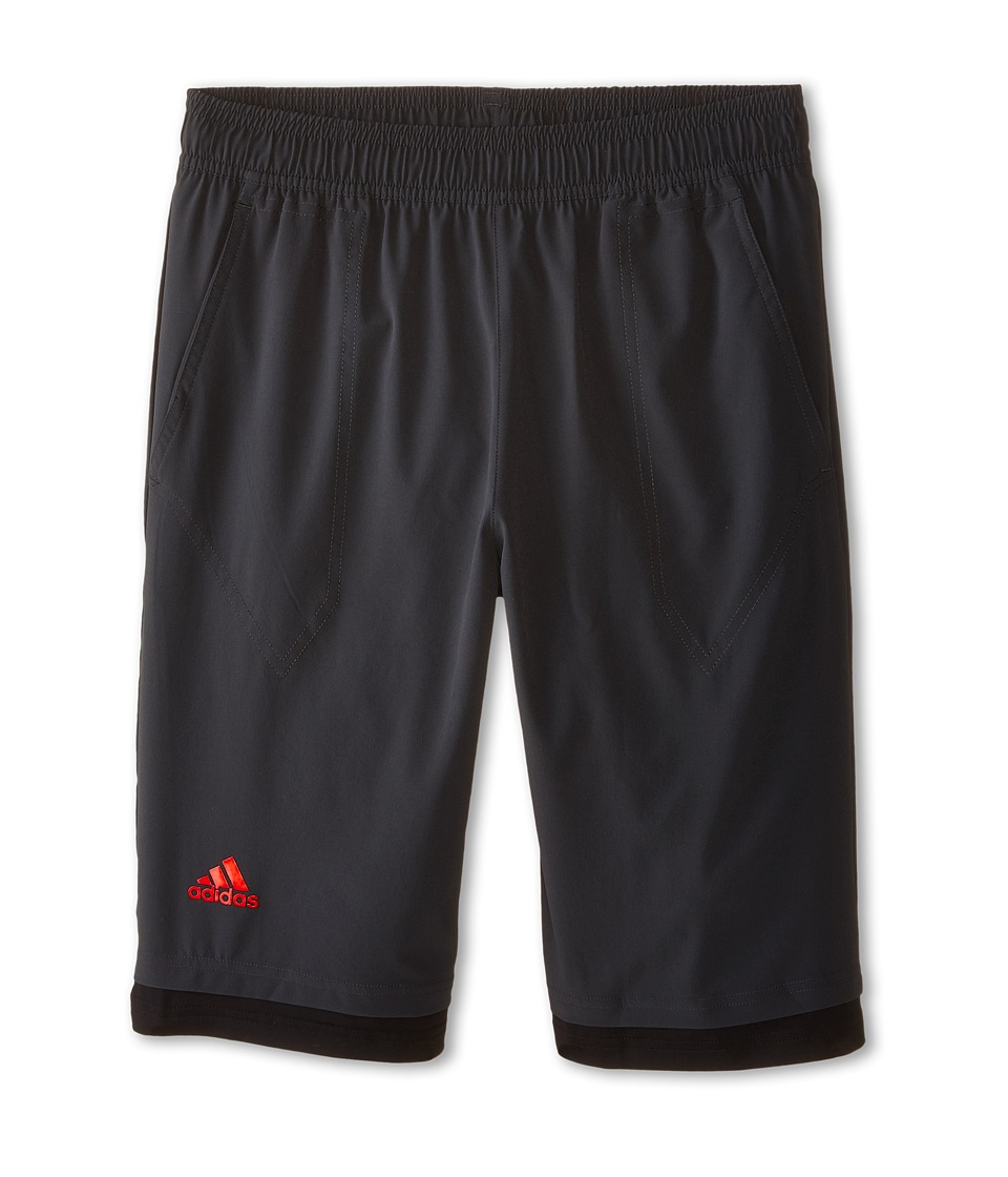 adidas Kids - Adizero Bermuda (Little Kids/Big Kids) (Dark Grey/Solar Red) Boy's Shorts