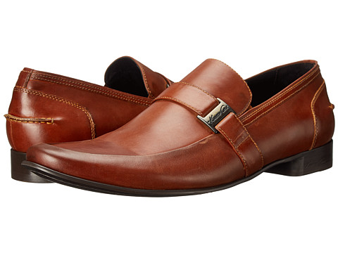 Kenneth Cole New York - Power Plug (Cognac) Men's Slip on Shoes