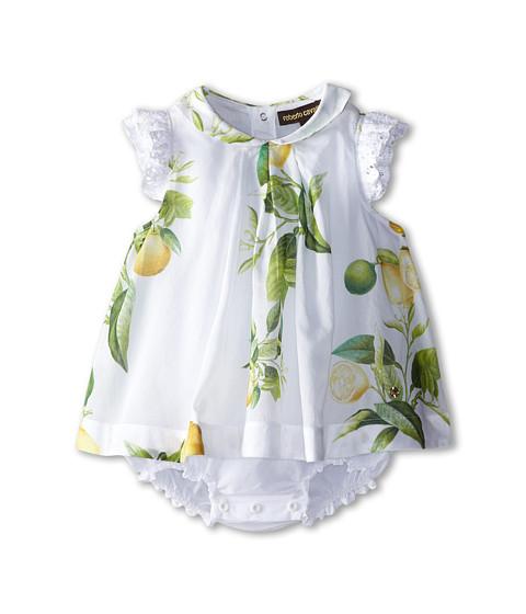 Roberto Cavalli Kids - Ruffle Sleeve Body Dress w/ Lemon Print (Infant) (Lemons) Girl