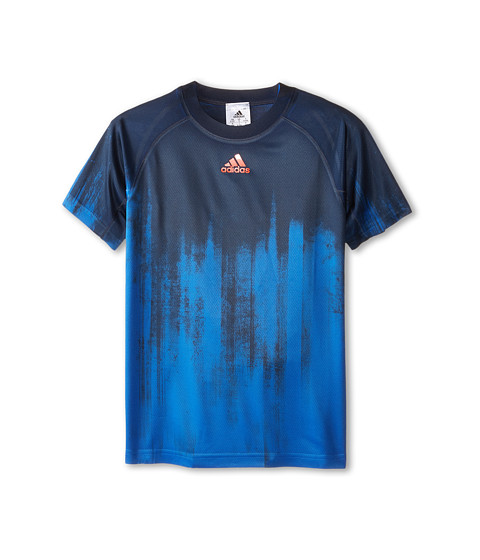 adidas Kids - Boys' Adizero Tee (Little Kid/Big Kid) (Blue) Boy's Short Sleeve Pullover