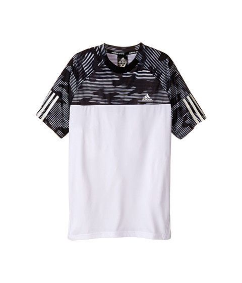 adidas Kids - Response Trend Tee (Little Kids/Big Kids) (White/Black) Boy's T Shirt