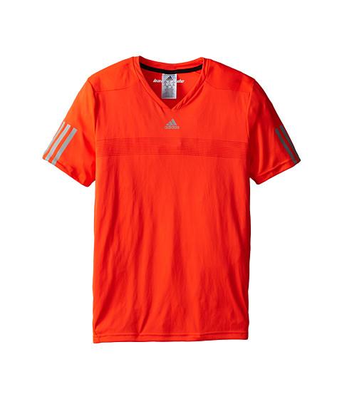 adidas Kids - Barricade Tee (Little Kids/Big Kids) (Solar Red/Midnight Solid Grey) Boy's T Shirt