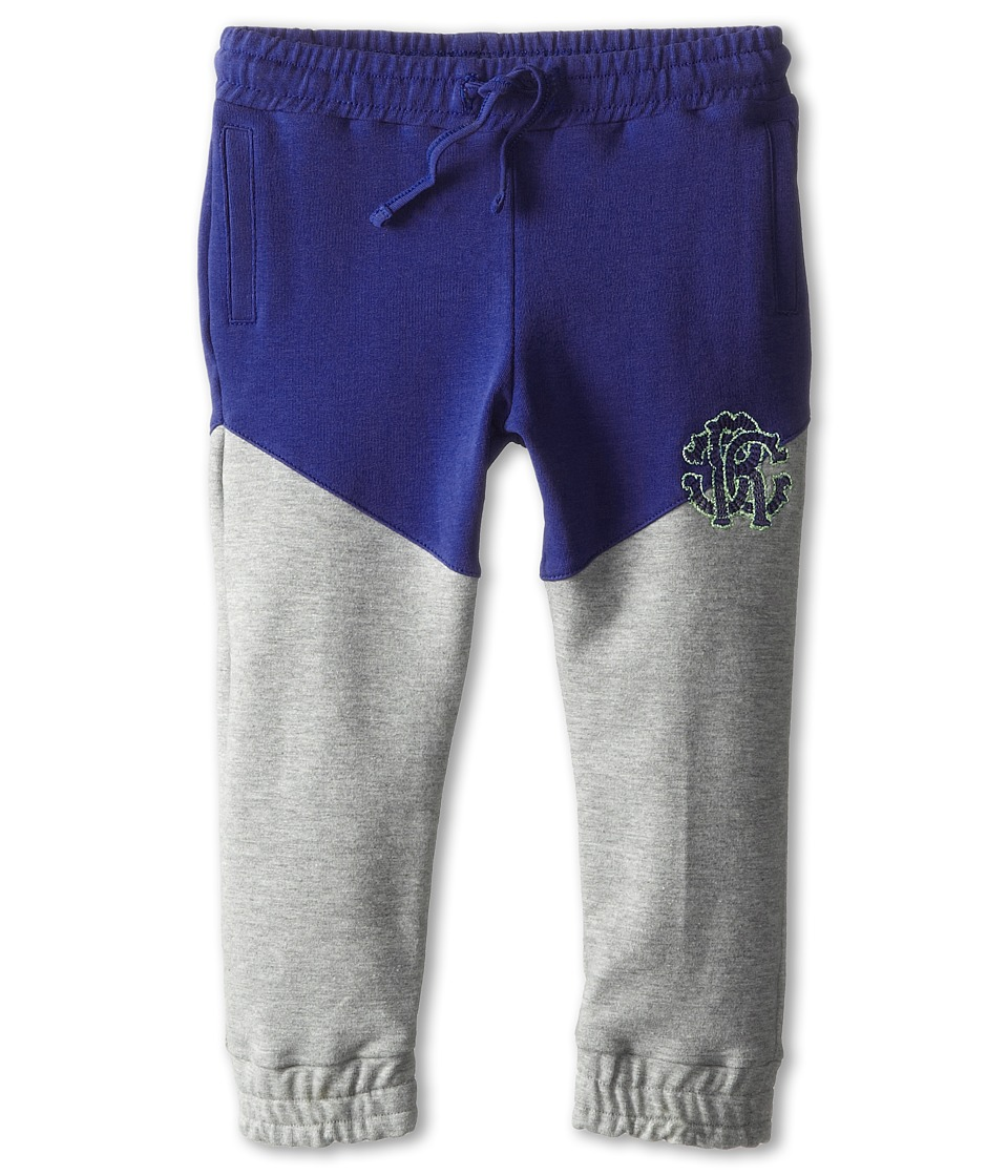 Roberto Cavalli Kids - Two-Tone Sweatpants (Infant) (Blue/Grey) Boy's Casual Pants