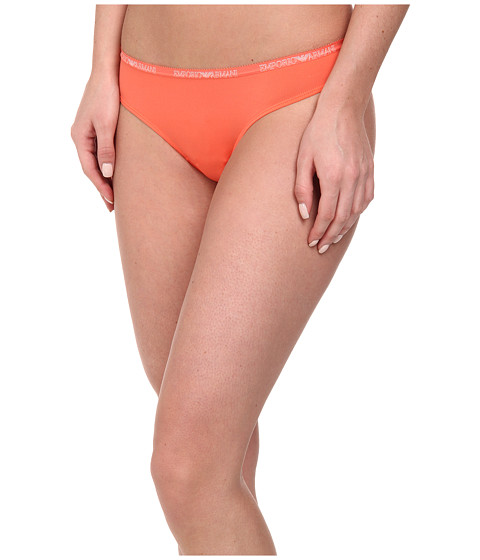 Emporio Armani - Soft Micro Solid Microfiber Thong (Orange) Women