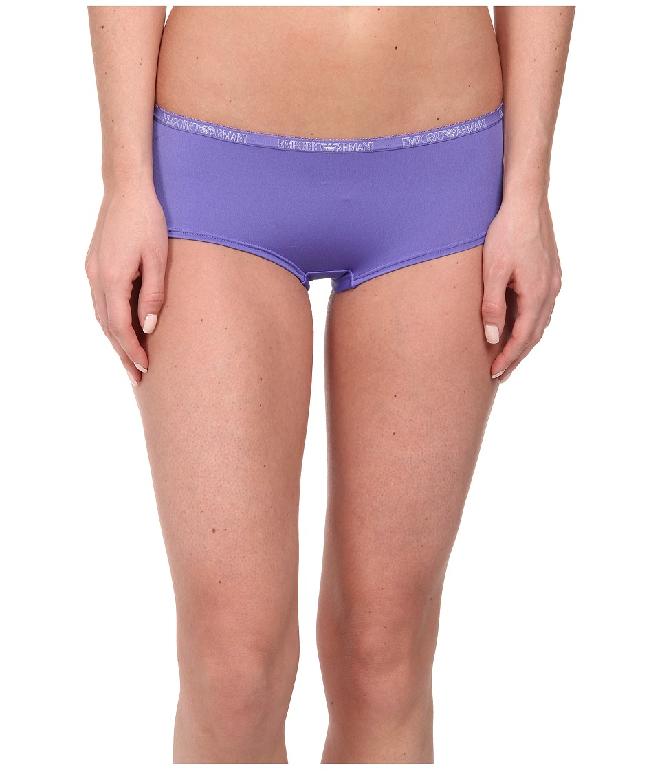 Emporio Armani - Soft Micro Solid Microfiber Cheeky Pants (Indigo Mood) Women's Underwear
