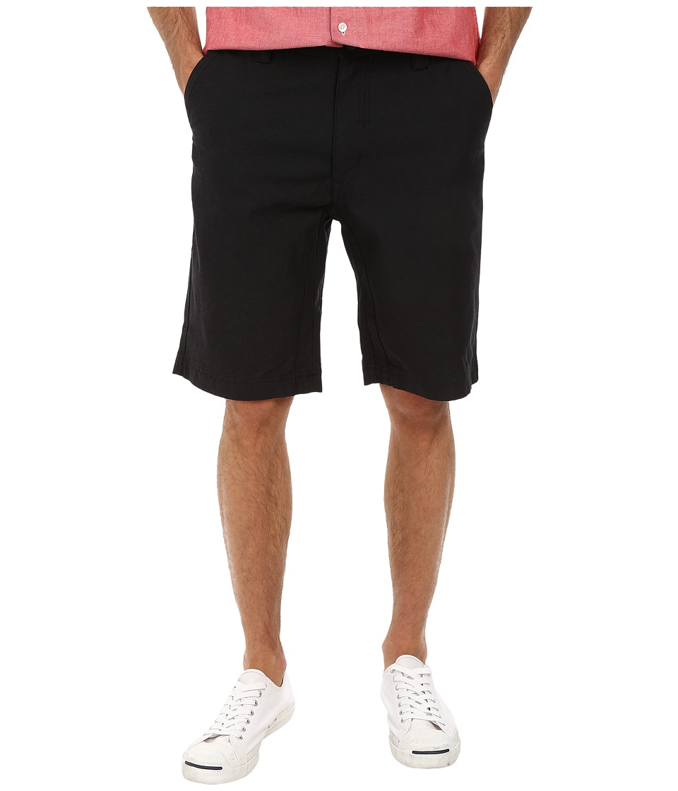 Staple - Rally Oxford Shorts (Black) Men's Shorts