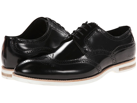 Kenneth Cole New York - Very Structured (Black) Men's Lace Up Wing Tip Shoes