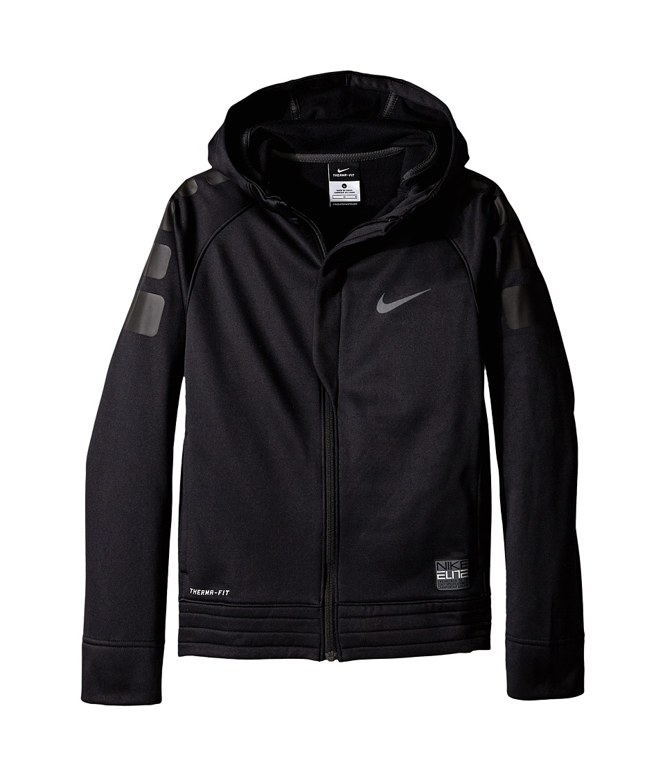Nike Kids - Elite Stripe Hoodie (Little Kids/Big Kids) (Black/Anthracite/Black/Anthracite) Boy's Sweatshirt