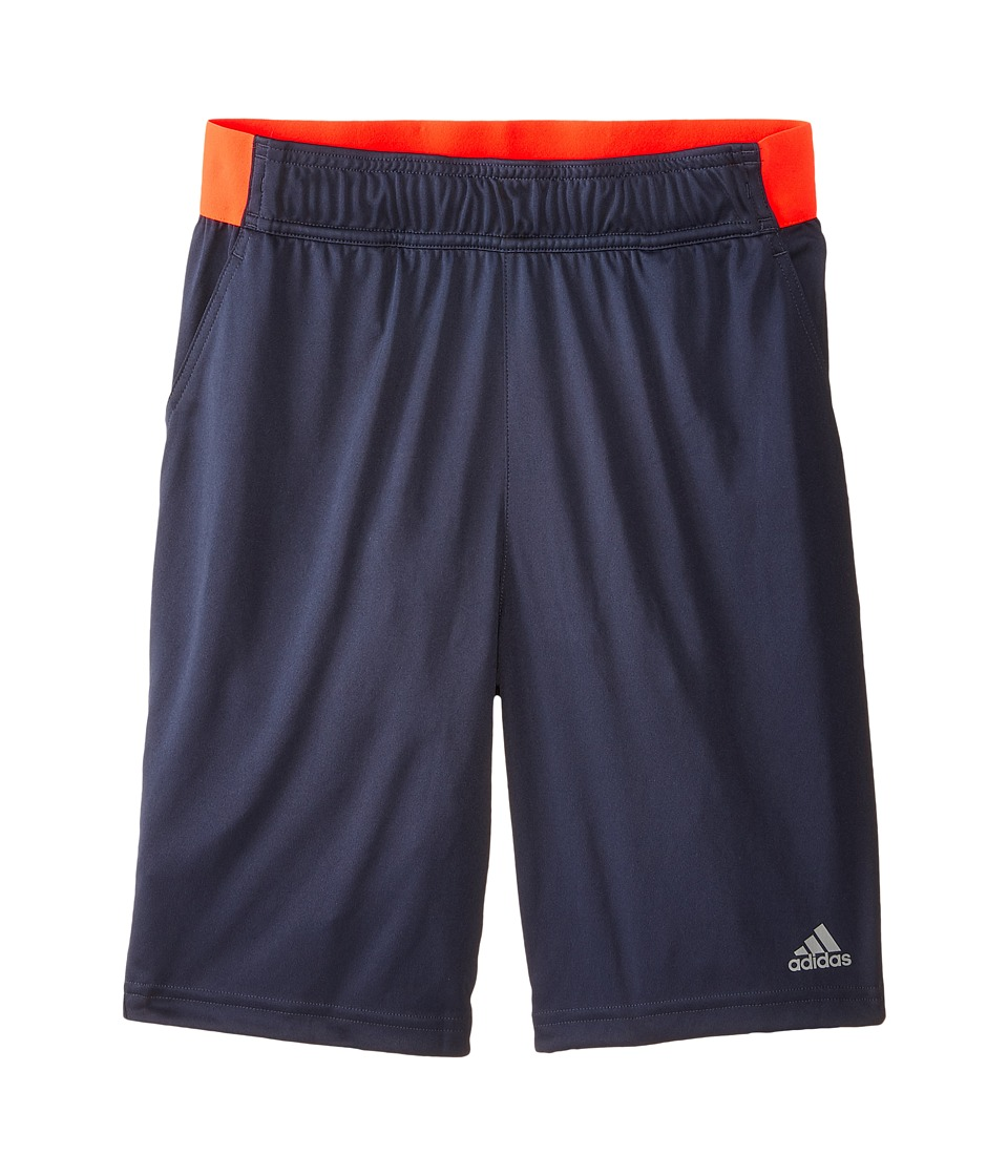 adidas Kids - Barricade Shorts (Little Kids/Big Kids) (Midnight Grey F15/Midnight Solid Grey) Boy