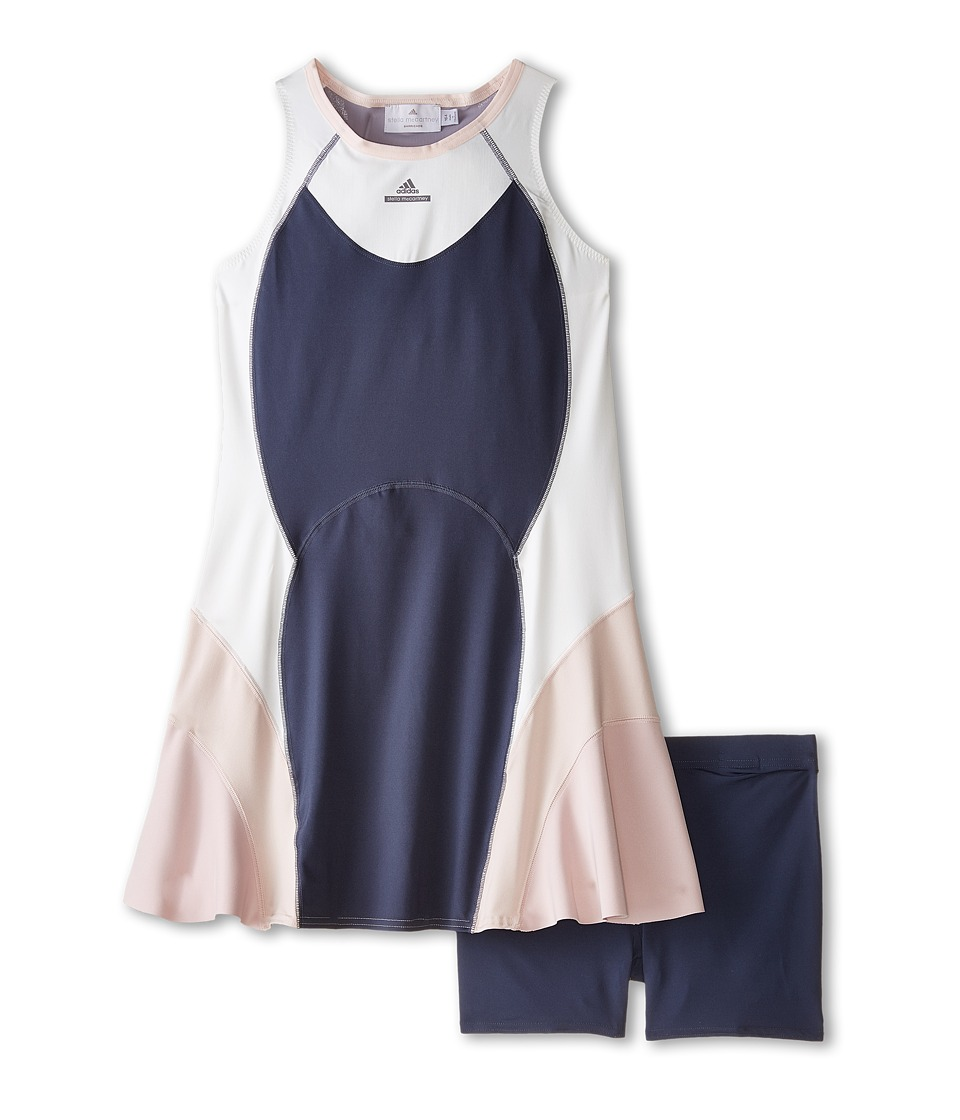 adidas Kids - Stella McCartney Dress (Little Kids/Big Kids) (Midnight Grey F15/White Vapour S11) Girl's Dress
