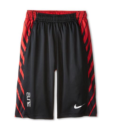 Nike Kids - Elite Powerup Shorts (Little Kids/Big Kids) (Black/University Red/Metallic Silver) Boy