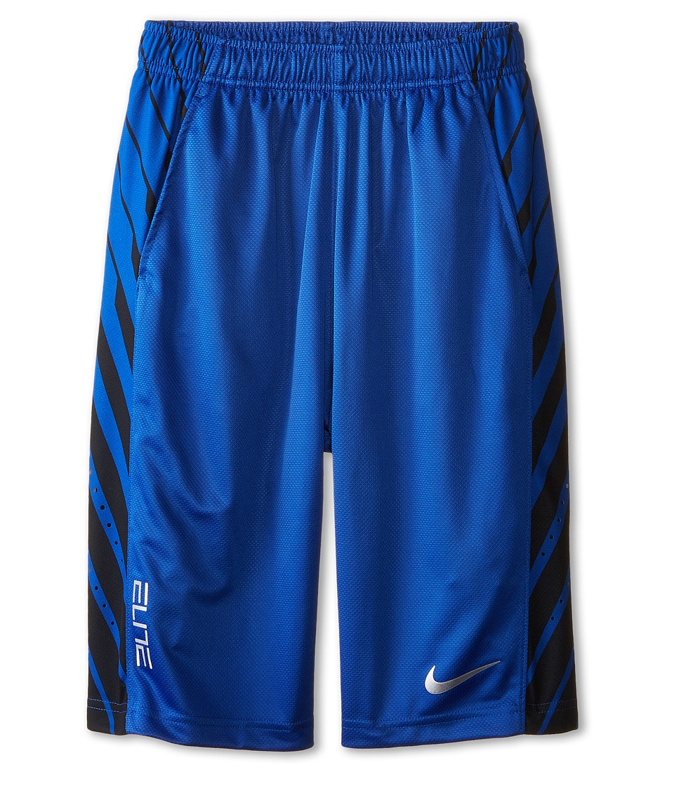 Nike Kids - Elite Powerup Shorts (Little Kids/Big Kids) (Game Royal/Game Royal/Metallic Silver) Boy's Shorts