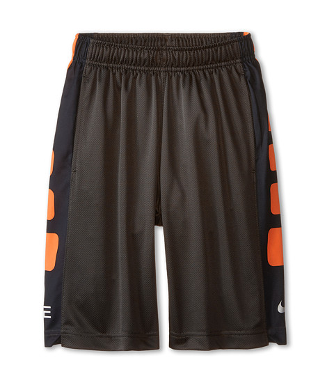 Nike Kids - Elite Stripe Short (Little Kids/Big Kids) (Deep Pewter/Black/Metallic Silver) Boy's Workout
