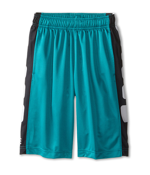 Nike Kids - Elite Stripe Short (Little Kids/Big Kids) (Radiant Emerald/Black/Metallic Silver) Boy's Workout