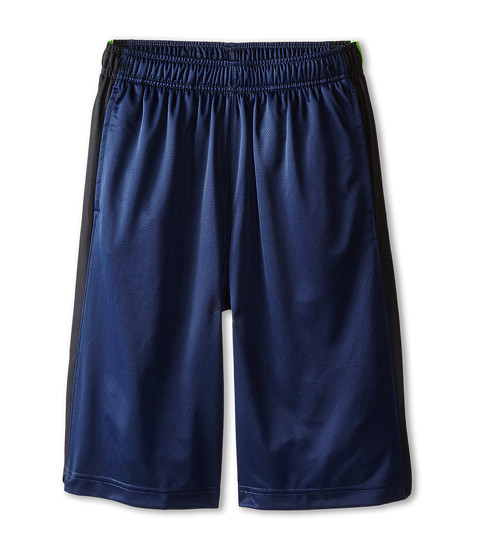 Nike Kids - Elite Stripe Short (Little Kids/Big Kids) (Midnight Navy/Black/Metallic Silver) Boy