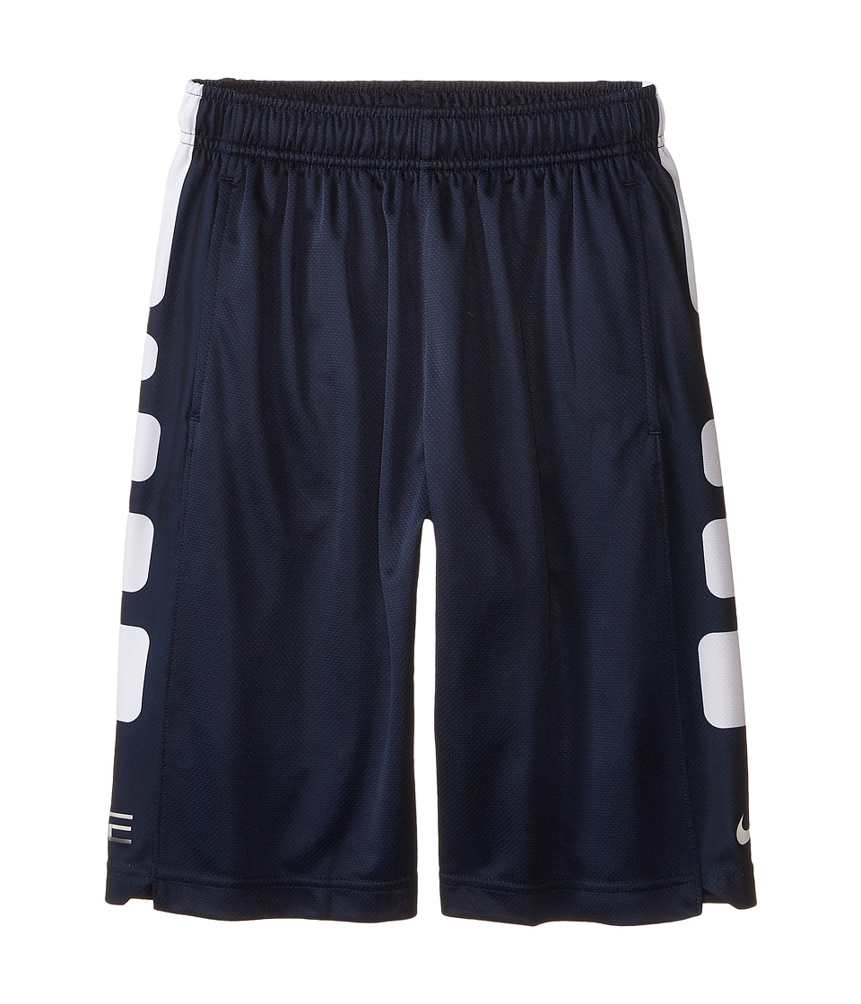 Nike Kids - Elite Stripe Short (Little Kids/Big Kids) (Obsidian/Obsidian/White) Boy's Workout
