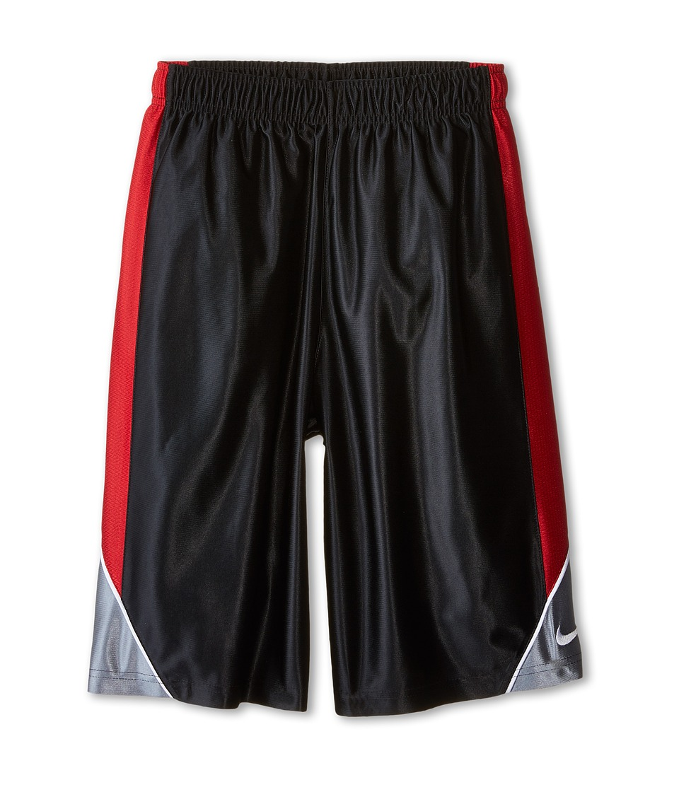 Nike Kids - Dunk Shorts (Little Kids/Big Kids) (Black/Gym Red/Cool Grey/White) Boy
