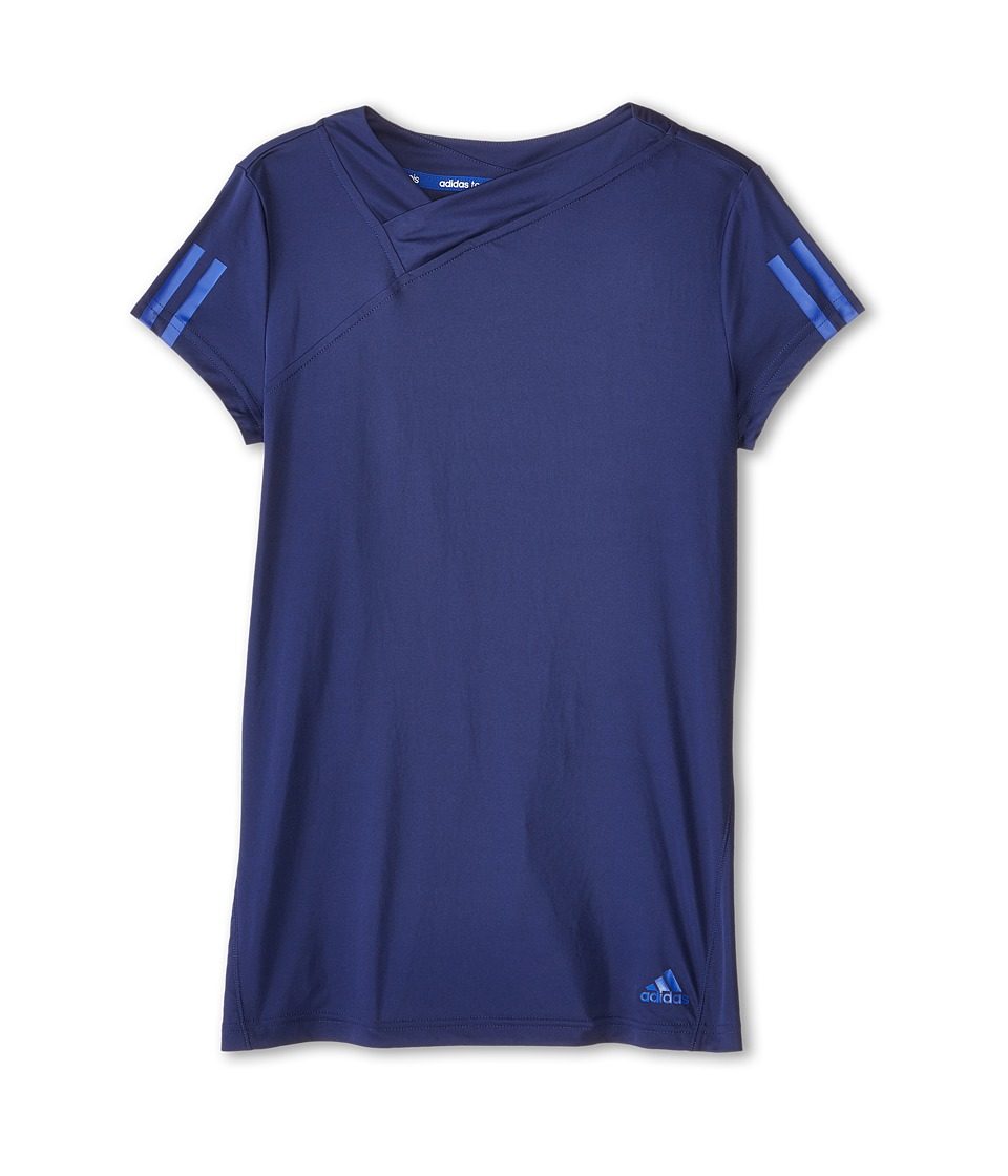 adidas Kids - Response Tee (Little Kids/Big Kids) (Midnight Indigo F15/Bold Blue) Girl's Short Sleeve Pullover