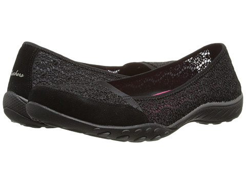 SKECHERS - Relaxed Fit - Breathe-Easy - Pretty-Factor (Black) Women's Shoes