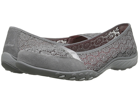 SKECHERS - Relaxed Fit - Breathe-Easy - Pretty-Factor (Gray) Women's Shoes