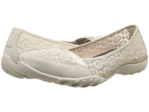 SKECHERS - Relaxed Fit - Breathe-Easy - Pretty-Factor (Natural) Women's Shoes