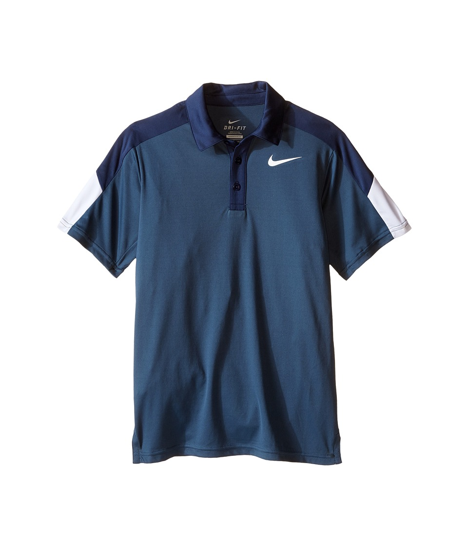 Nike Kids - Team Court Polo (Little Kids/Big Kids) (Squadron Blue/Midnight Navy/White/White) Boy