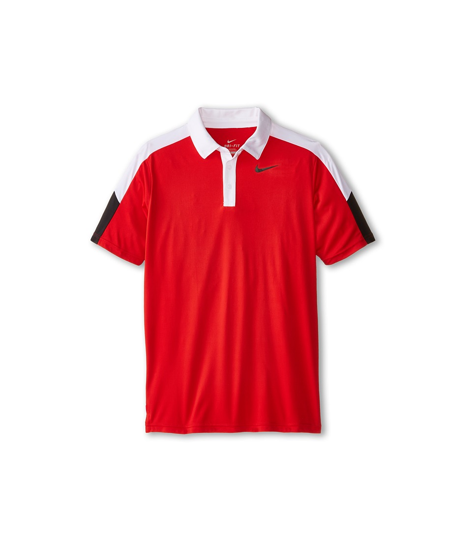 Nike Kids - Dry Short Sleeve Tennis Polo (Little Kids/Big Kids) (University Red/White/Black/Black) Boy's Short Sleeve Pullover