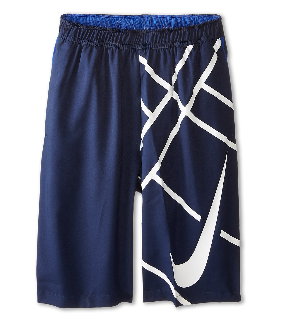 Nike Kids - Court 8 GFX Short (Little Kids/Big Kids) (Midnight Navy/Game Royal/White) Boy